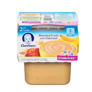 Gerber 2nd Fruits w Oatmeal 1