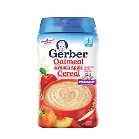 Gerber Peach Cereal